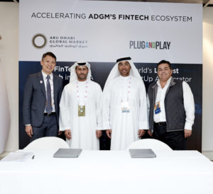 Innovation Centre Plug & Play Announcement Richard Teng, HE Saif Al Mohammed Al Hajeri HE Ahmed Al Sayegh, Saeed Amidi