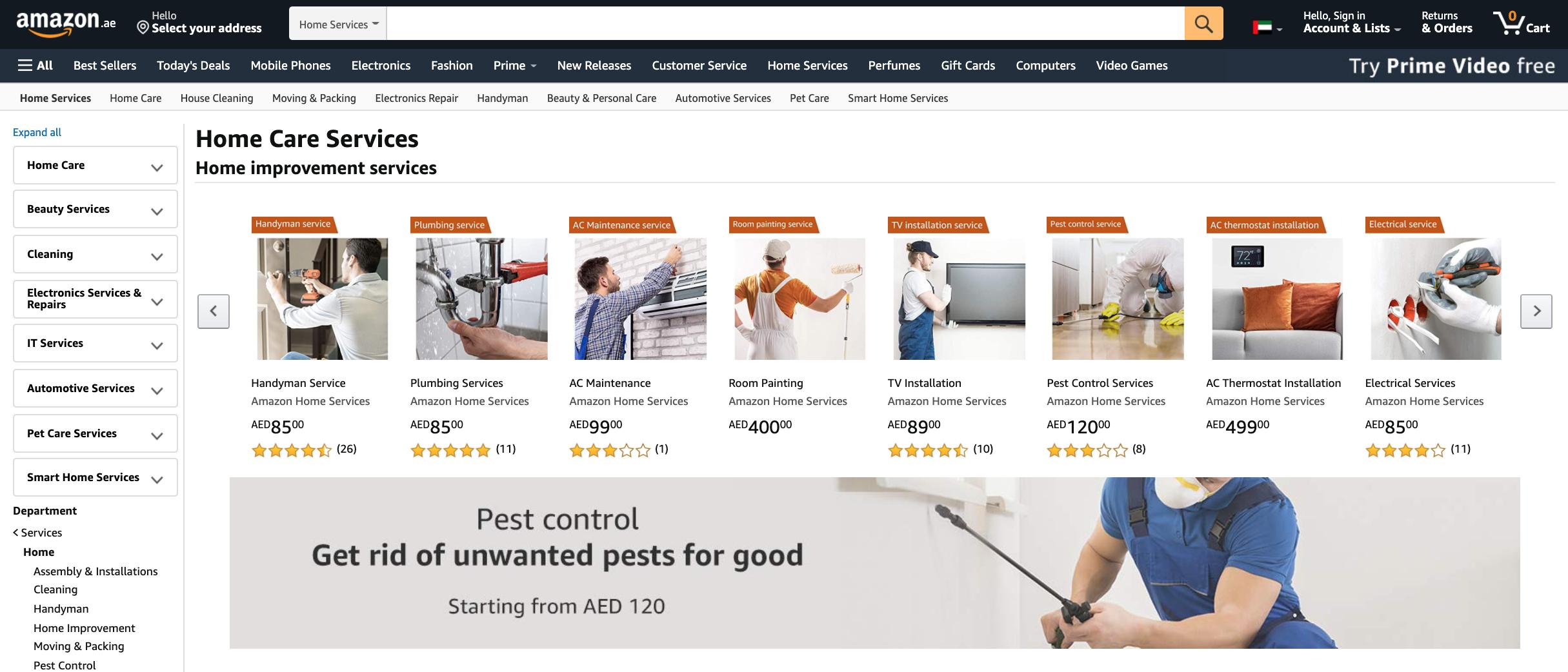 Amazon.ae Home Care Services